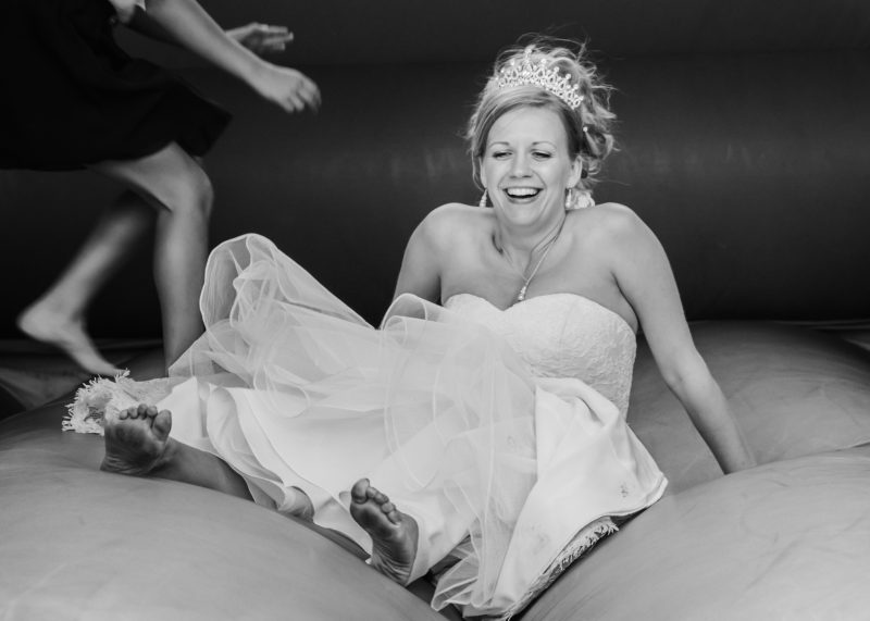 bride bouncy castle