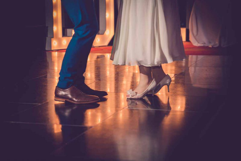 bride groom dance floor shoes