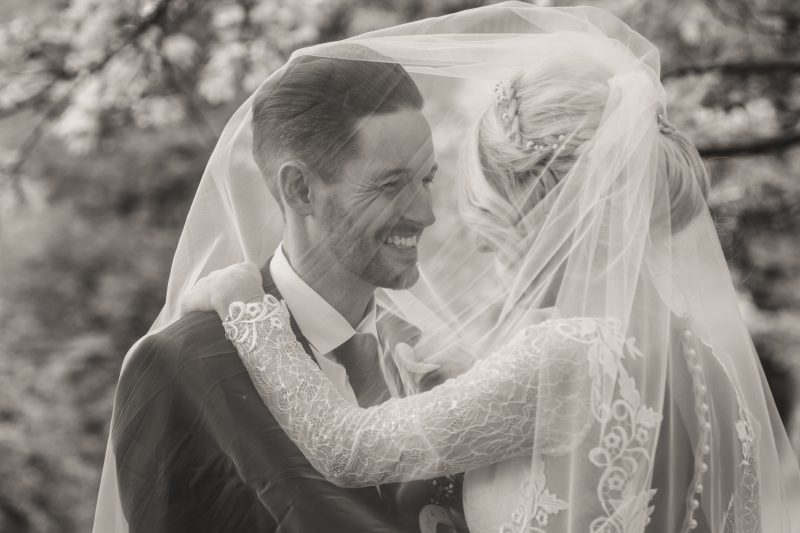 bride groom veil