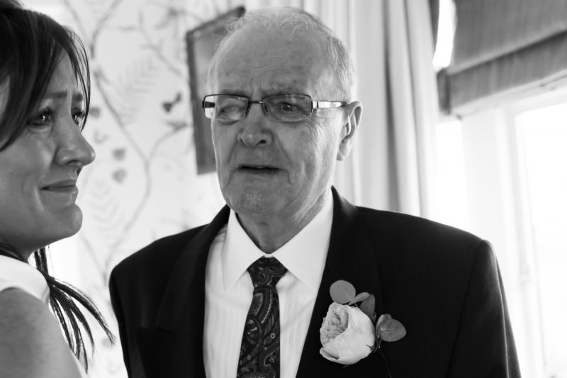 dad first look at bride emotional Carlton Towers