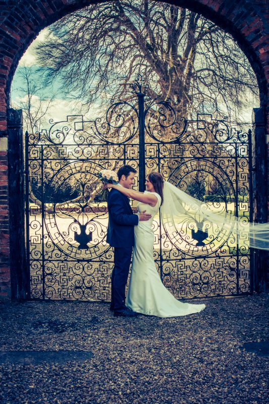 bride groom portrait gates