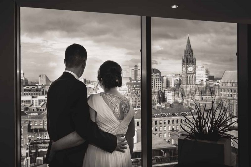 bride groom Manchester town hall wedding