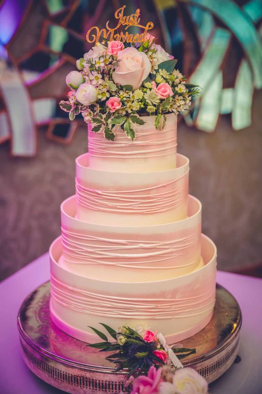 cake Manchester town hall wedding