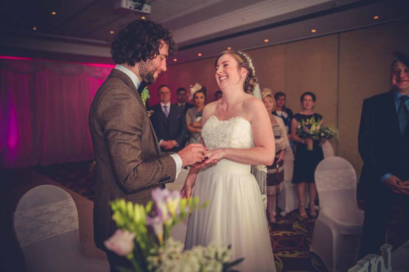 ceremony Worsley Marriott wedding