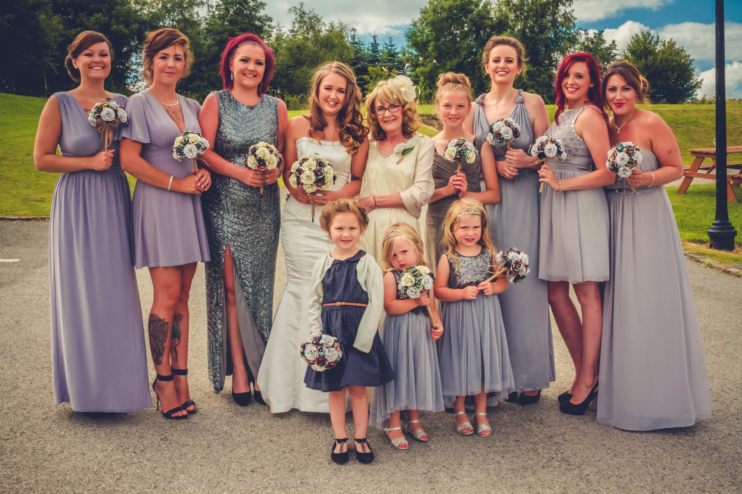 bridal party weddings on pudding pie hill