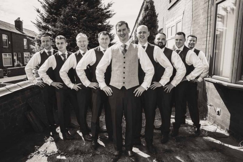 groomsmen ridgmont house wedding
